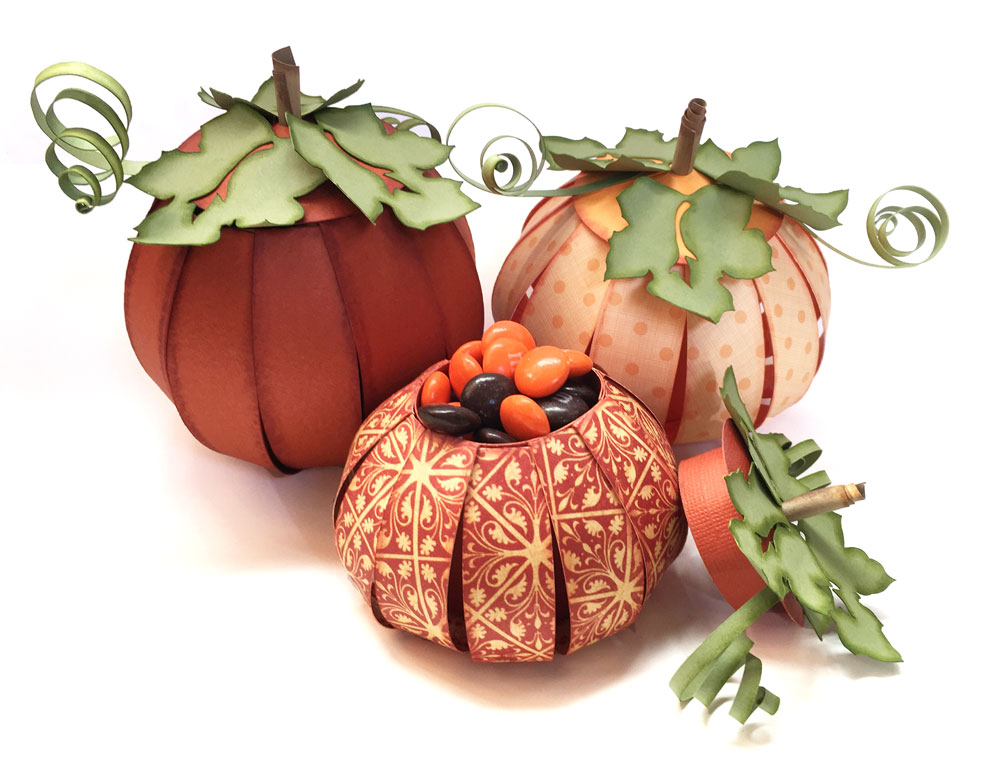 Pazzle Craft Room: Pumpkin Or Apple Paper Treat Cups