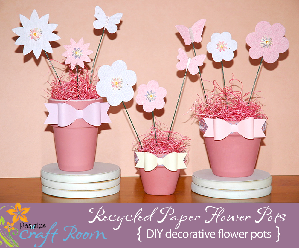 Recycled paper flower pots pazzles craft room i always have leftover paper scraps that i dont know what to do with and i thought this would be a great project for earth day or anytime because its mightylinksfo