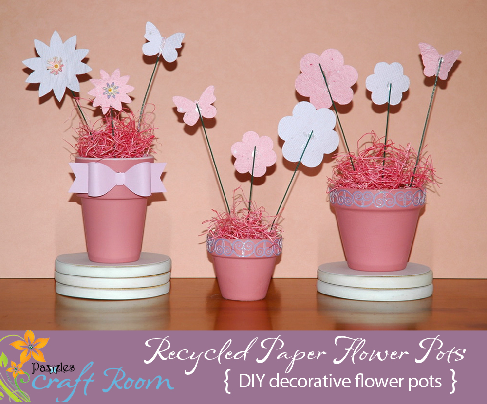 Recycled Paper Flower Pots Pazzles Craft Room