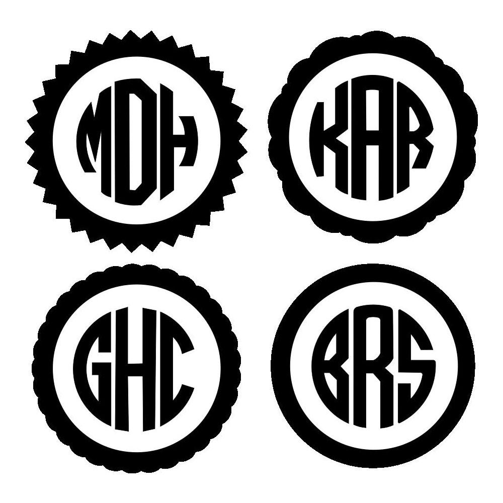 Round Monogram Project Pattern
