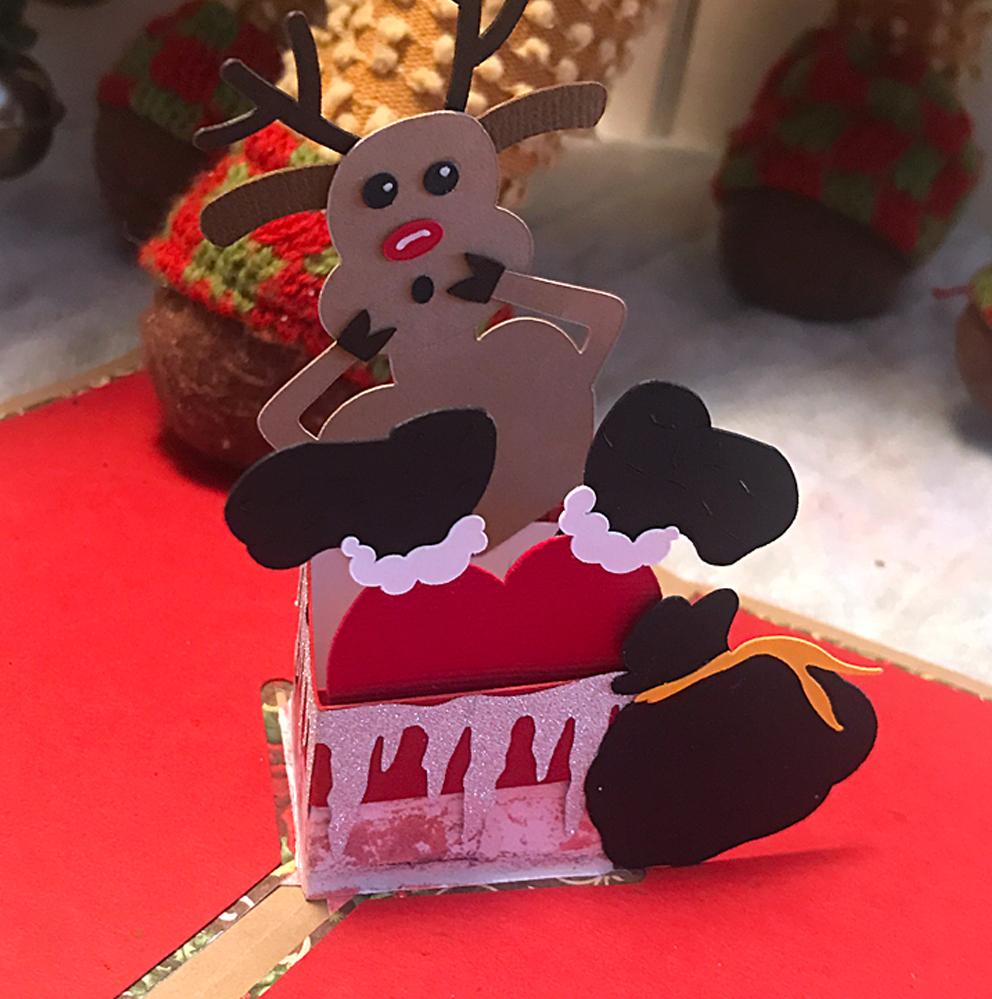 Stuck Santa Pop Up Card