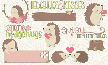 Pazzles Sending Hedgehogs Cutting Collection instant download in SVG, AI, and WPC. Compatible with all major electronic cutters including Pazzles Inspiration, Cricut, and SIlhouette Cameo.