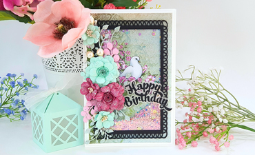 Pazzles DIY Birthday Shaker Card. Instant SVG download compatible with all major electronic cutters including Pazzles Inspiration, Cricut, and Silhouette Cameo. Design by Nida Tanweer.