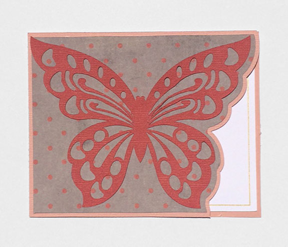 Shaped Edge Butterfly Card