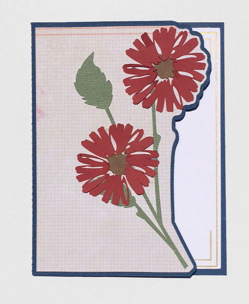 Shaped Edge Cut Away Flower Card