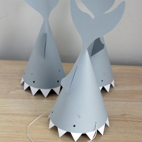 Party Hat Template | Shark Party Hat Pazzles Craft Room