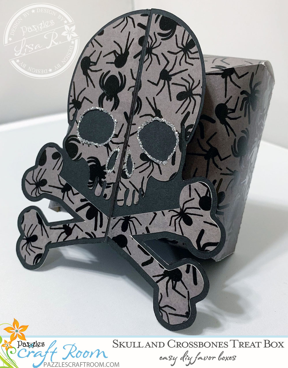 Pazzles Halloween DIY Skull and Crossbones Box or Favor by Lisa Reyna