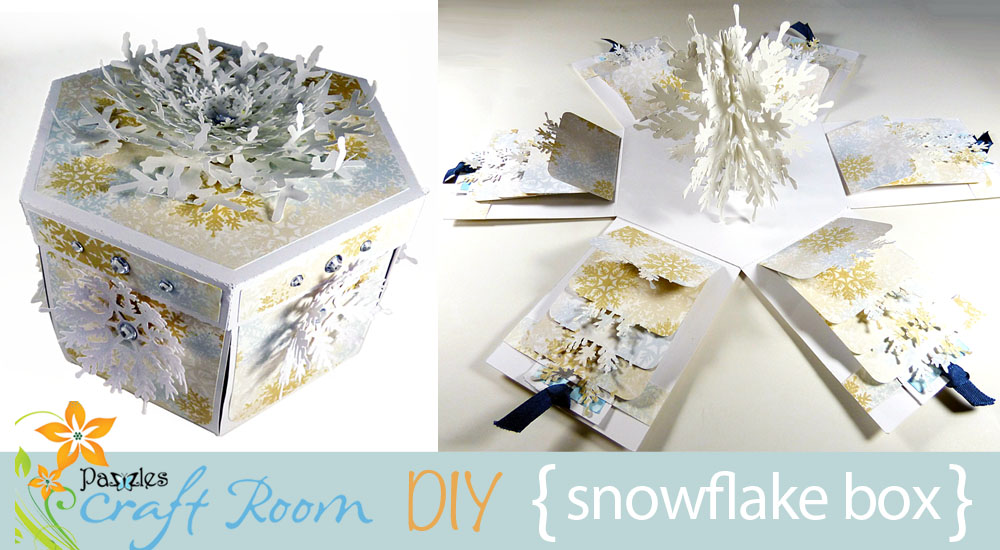 Snowflake Waterfall Card Explosion Box