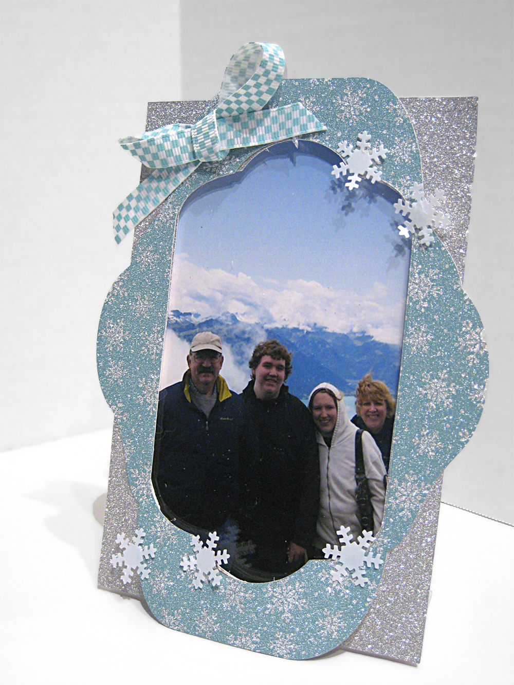 Snowflake Acrylic Frame made with the Pazzles Inspiration