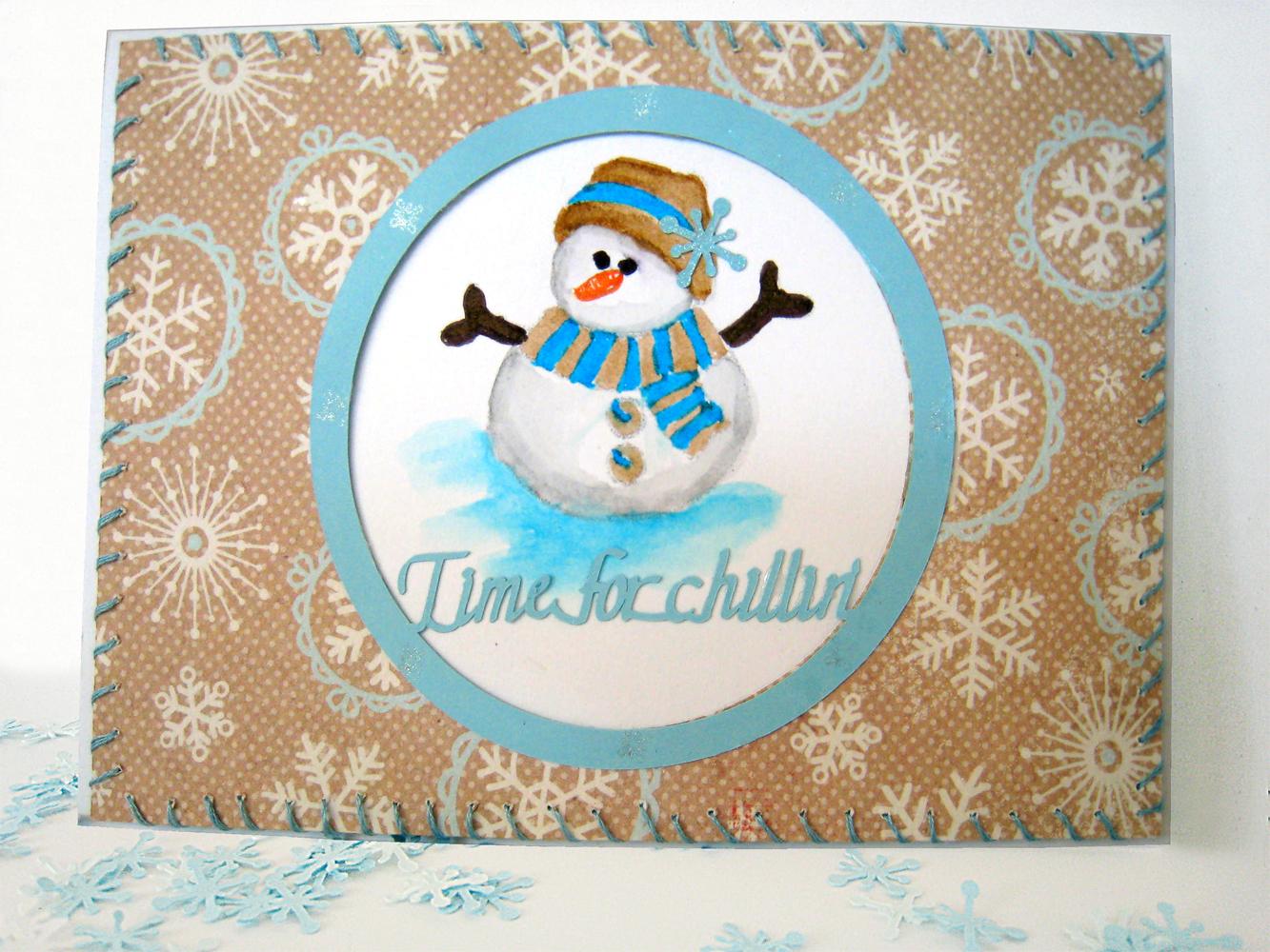 Snowman Piercing Tool Card