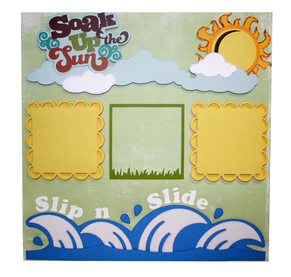 Summer Scrapbook Layout with Pazzles