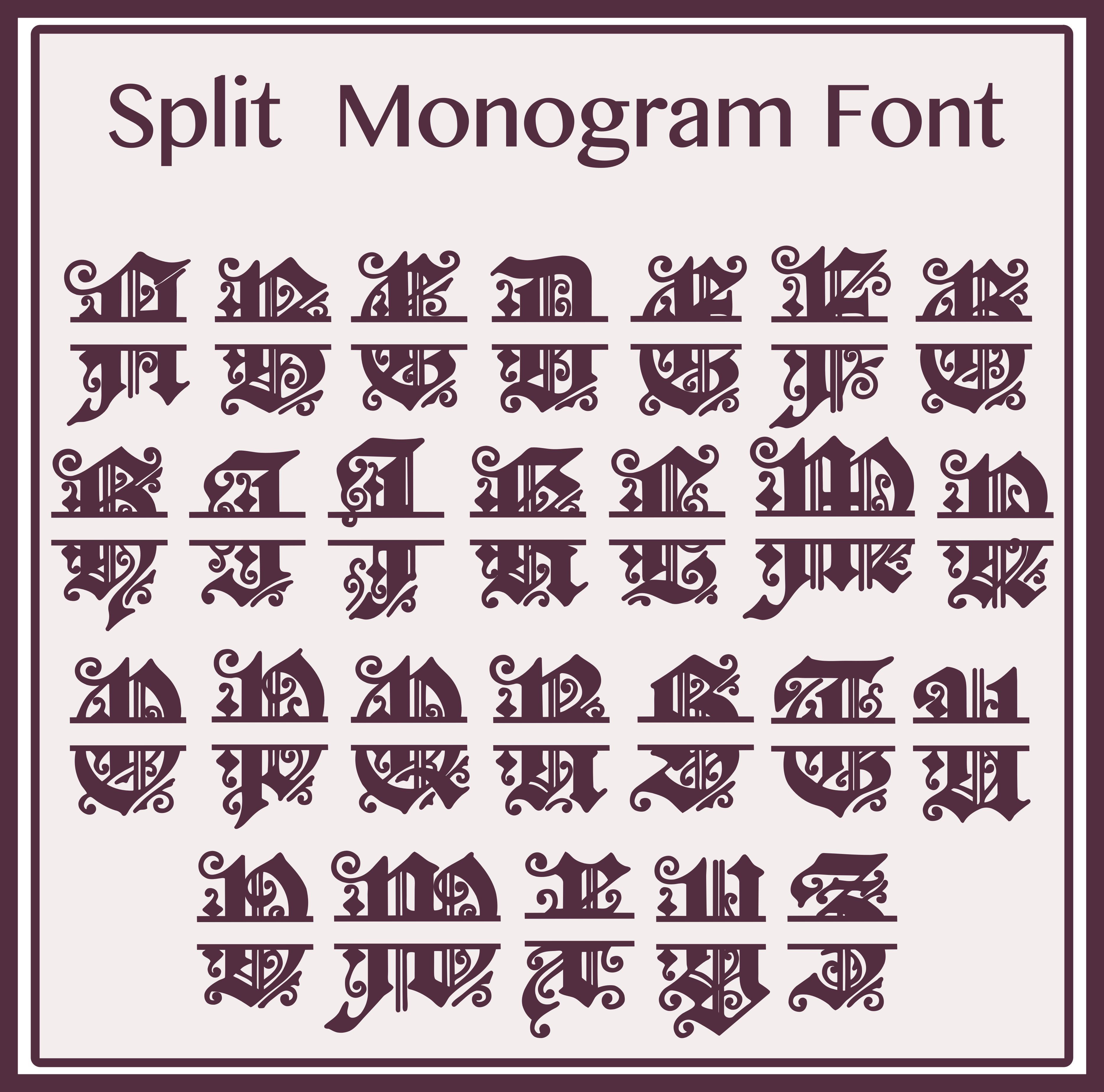 split-monogram