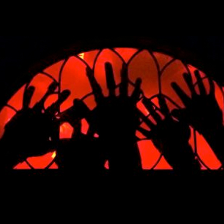 Trapped Hands Window Decoration