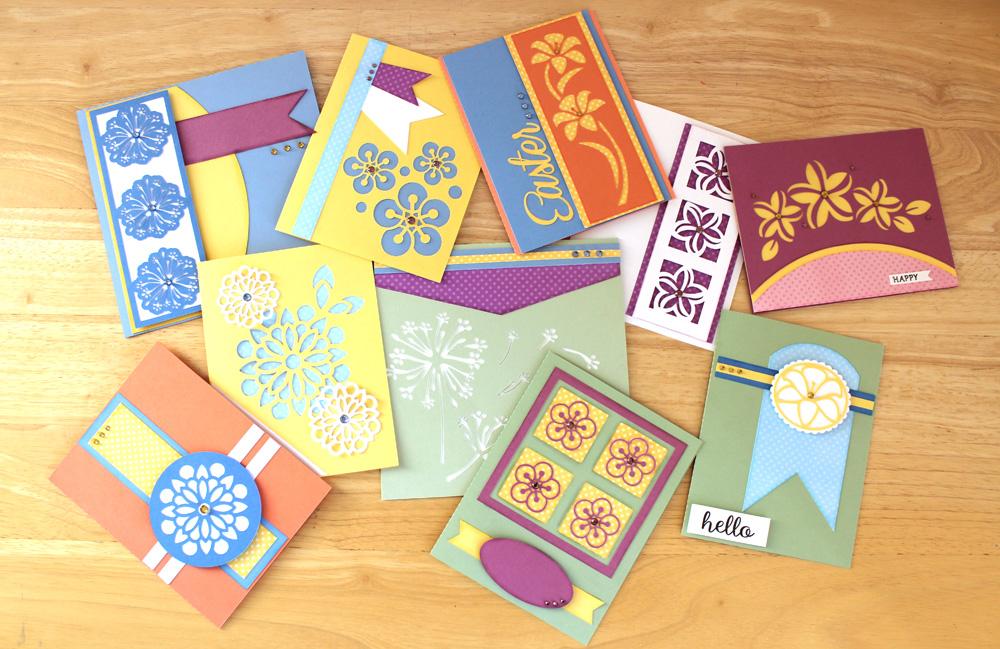 Easy Spring Flower Cards