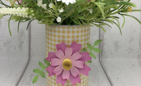 Spring flowers coffee tin decor
