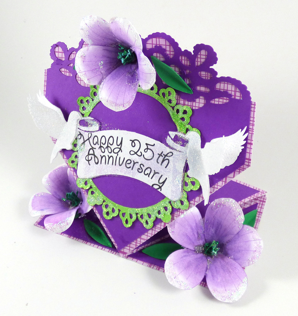 Petunia Anniversary Card