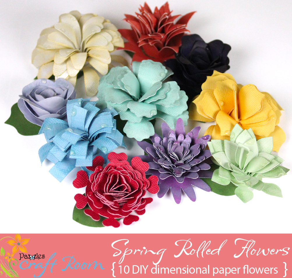 Spring Rolled Flowers Pazzles Craft Room