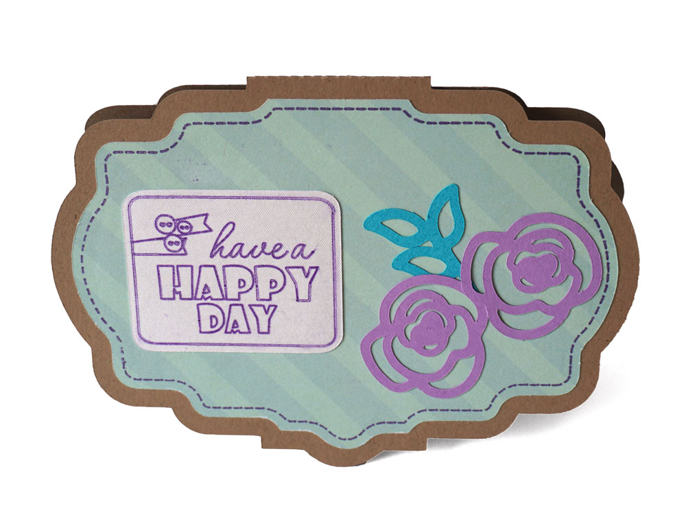 Spring Shaped Card