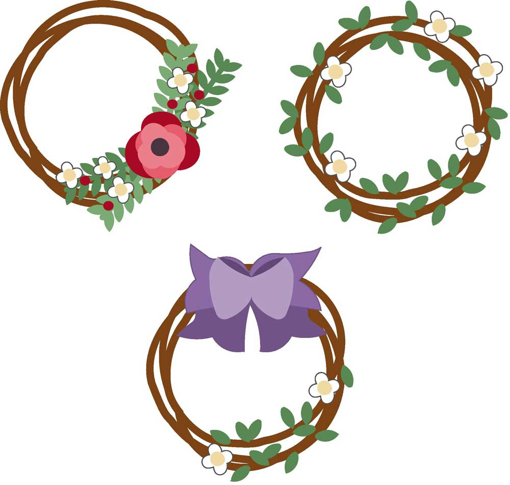 Spring Wreath Printables