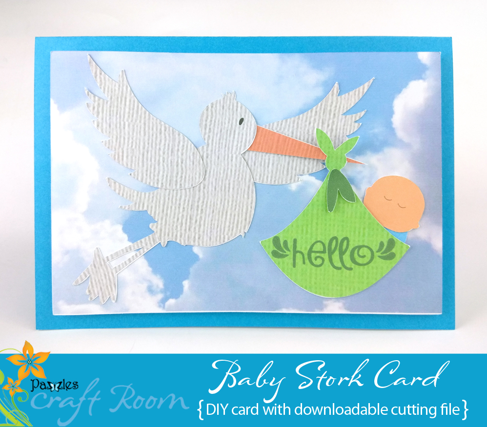Stork Baby Card Pazzles Craft Room