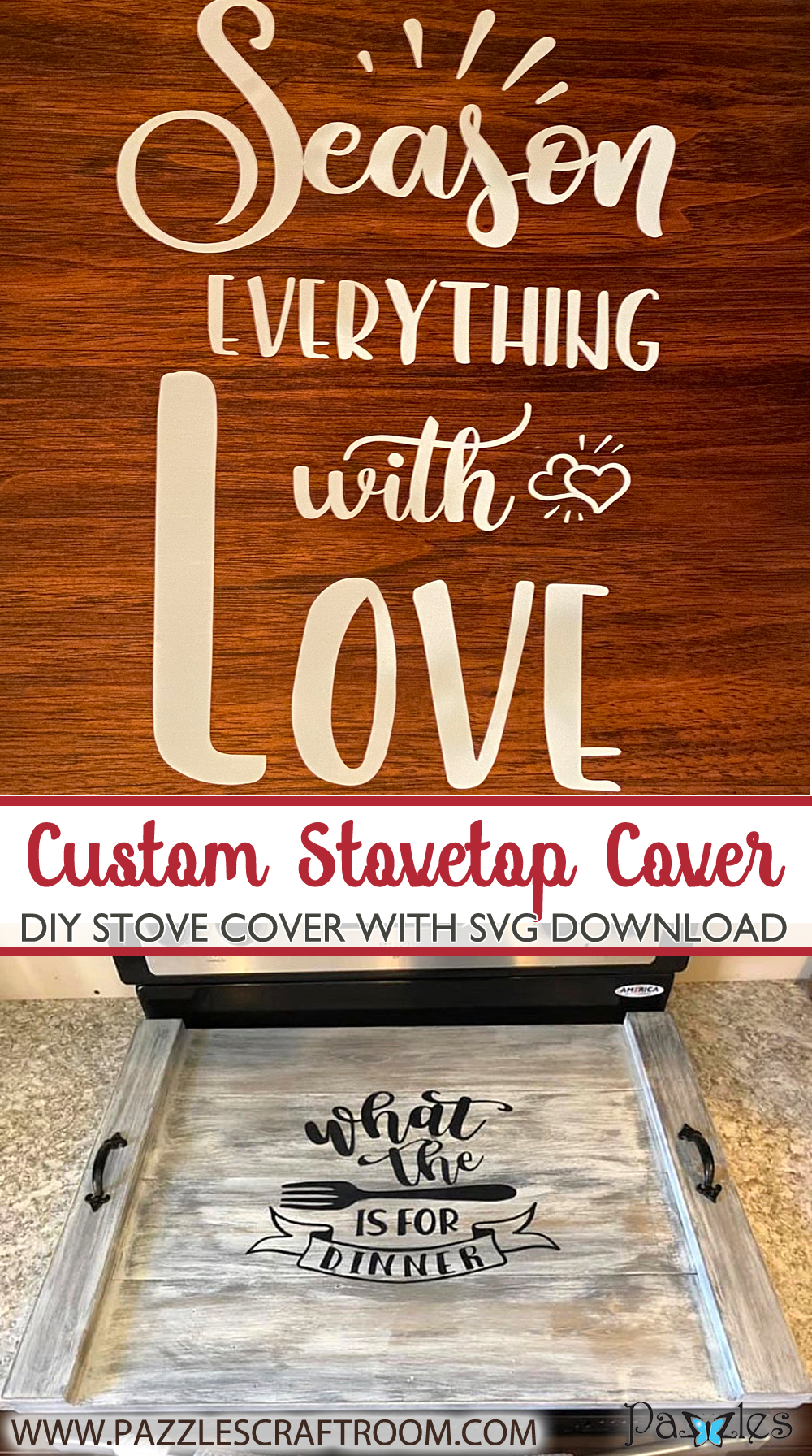 Pazzles DIY Stovetop Boards or Noodle Board with SVG instant download. Compatible with all major electronic cutters including Pazzles Inspiration, Cricut, and Silhouette Cameo.