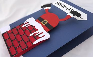 Stuck Santa Wobble Card