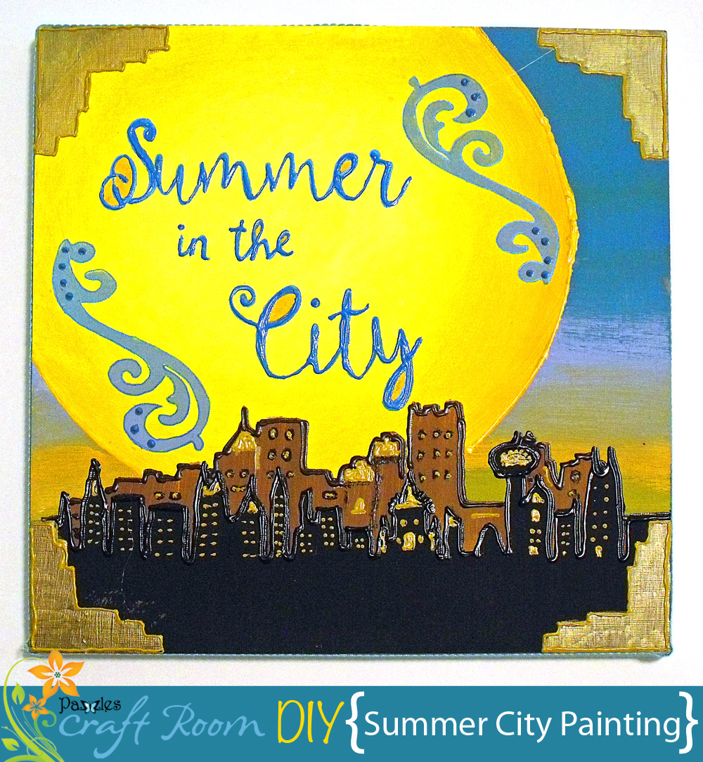 Summer City Painting