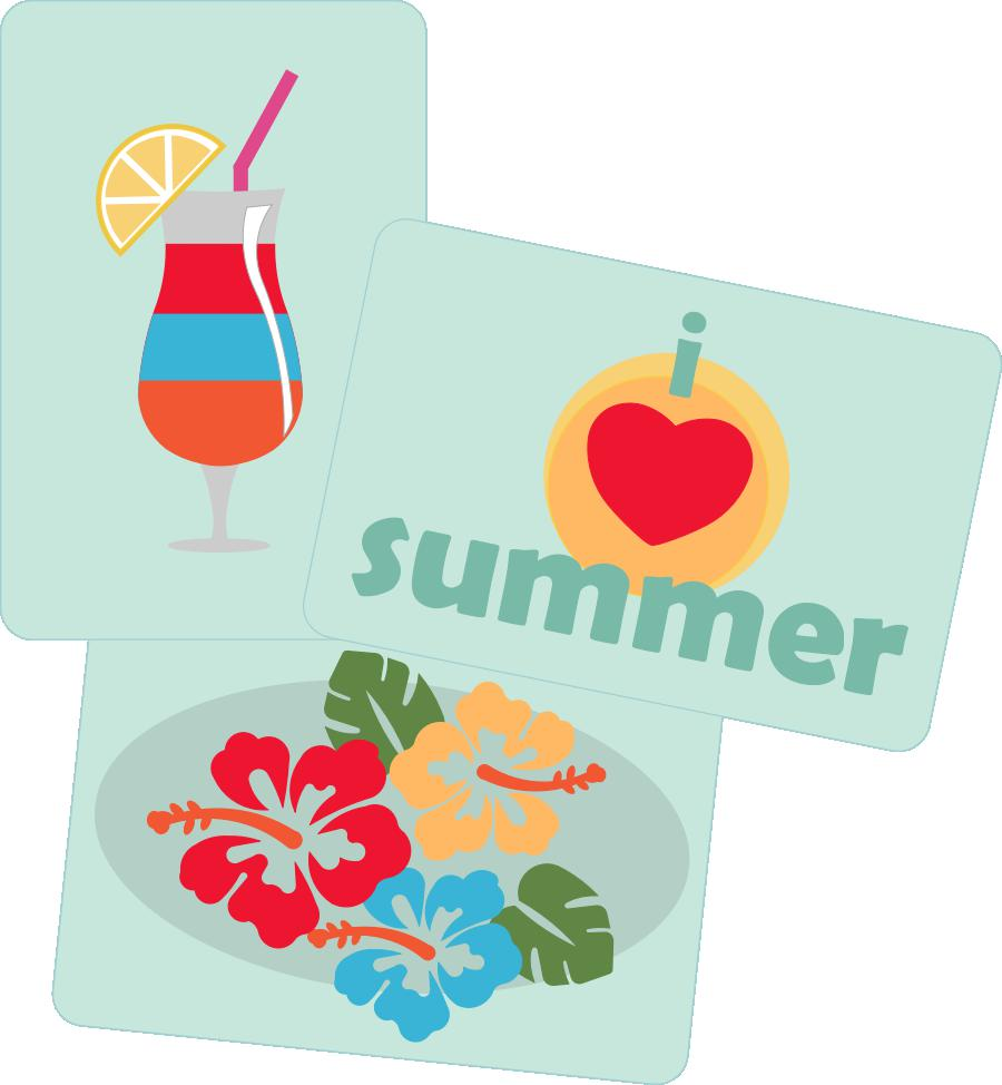 Summer Style Pocket Cards