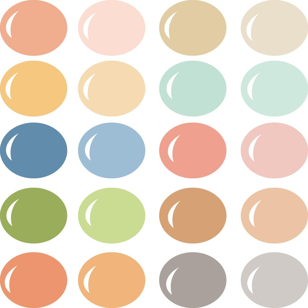 Pazzles Summer Vibes color palette with instant download.