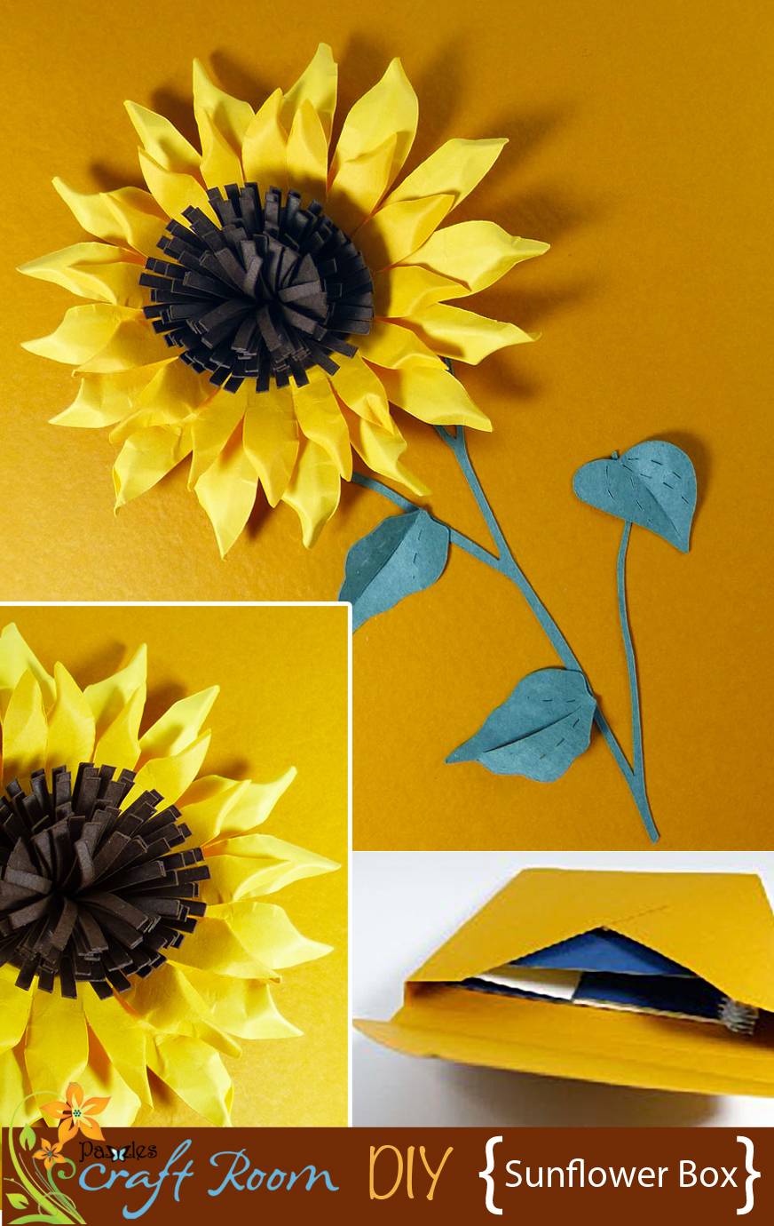 Sunflower Gift Box - Pazzles Craft Room