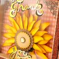 Pazzles DIY Sunflower Shadow Box with instant SVG download. Compatible with all major electronic cutters including Pazzles Inspiration, Cricut, and Silhouette Cameo. Design by Zahraa Darweesh.