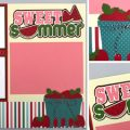 Pazzles DIY Sweet Summer Layout with instant SVG download. Compatible with all major electronic cutters including Pazzles Inspiration, Cricut, and SIlhouette Cameo. Design by Alma Cervantes.