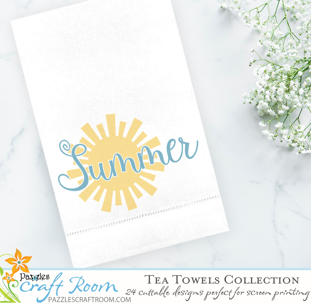 Tea Towels Cutting Collection: AI, SVG, and WPC - Pazzles Craft Room