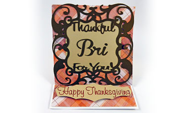 Thankful Easel Card