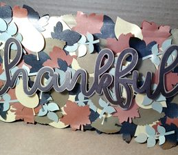 Pazzles Thankful Leaves DIY Fall Decor by Renee Smart. SVG download compatible with all major electronic cutters including Pazzles Inspiration, Cricut, and Silhouette Cameo.