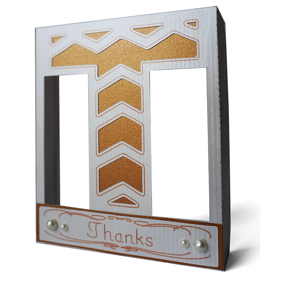 Thanks Frame with Pen Detail by Pazzles