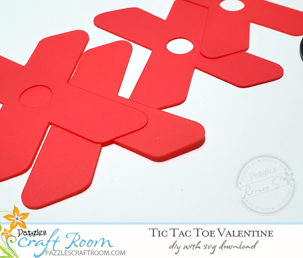 Pazzle DIY On-the-Go Tic Tac Toe Vaelntine. Instant SVG download compatible with all major electronic cutters including Pazzles Inspiration, Cricut, and Silhouette Cameo.