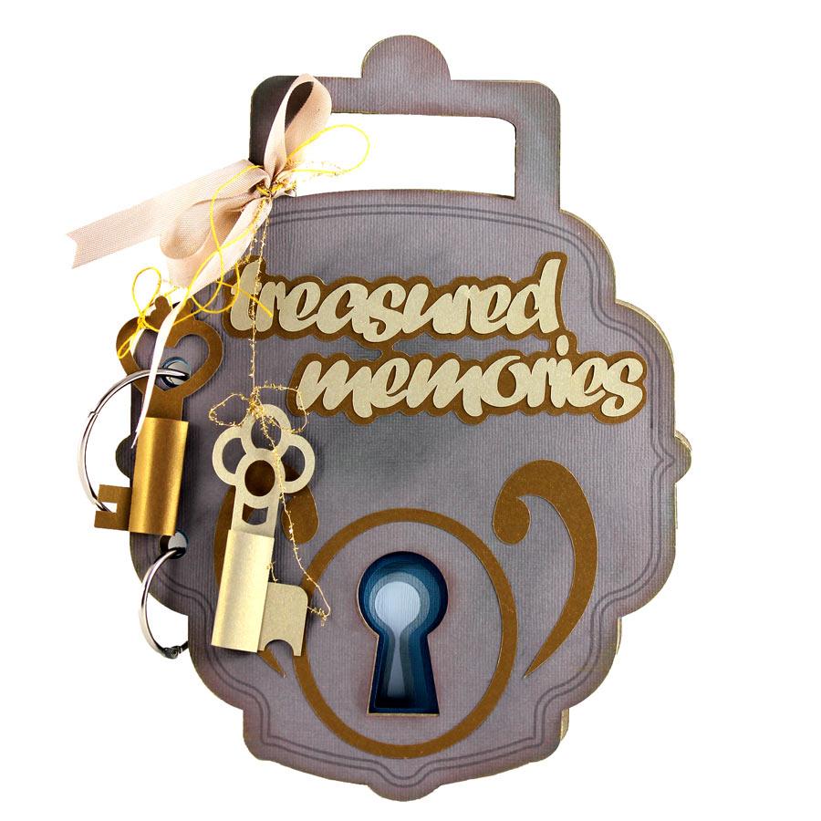 Antique Lock Mini Album Cutting Files