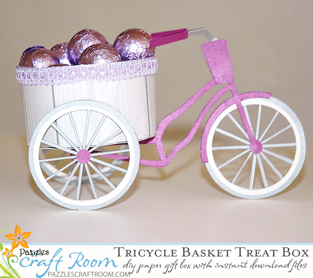 Pazzles DIY Craft Tricycle Treat Box by Judy Hanson