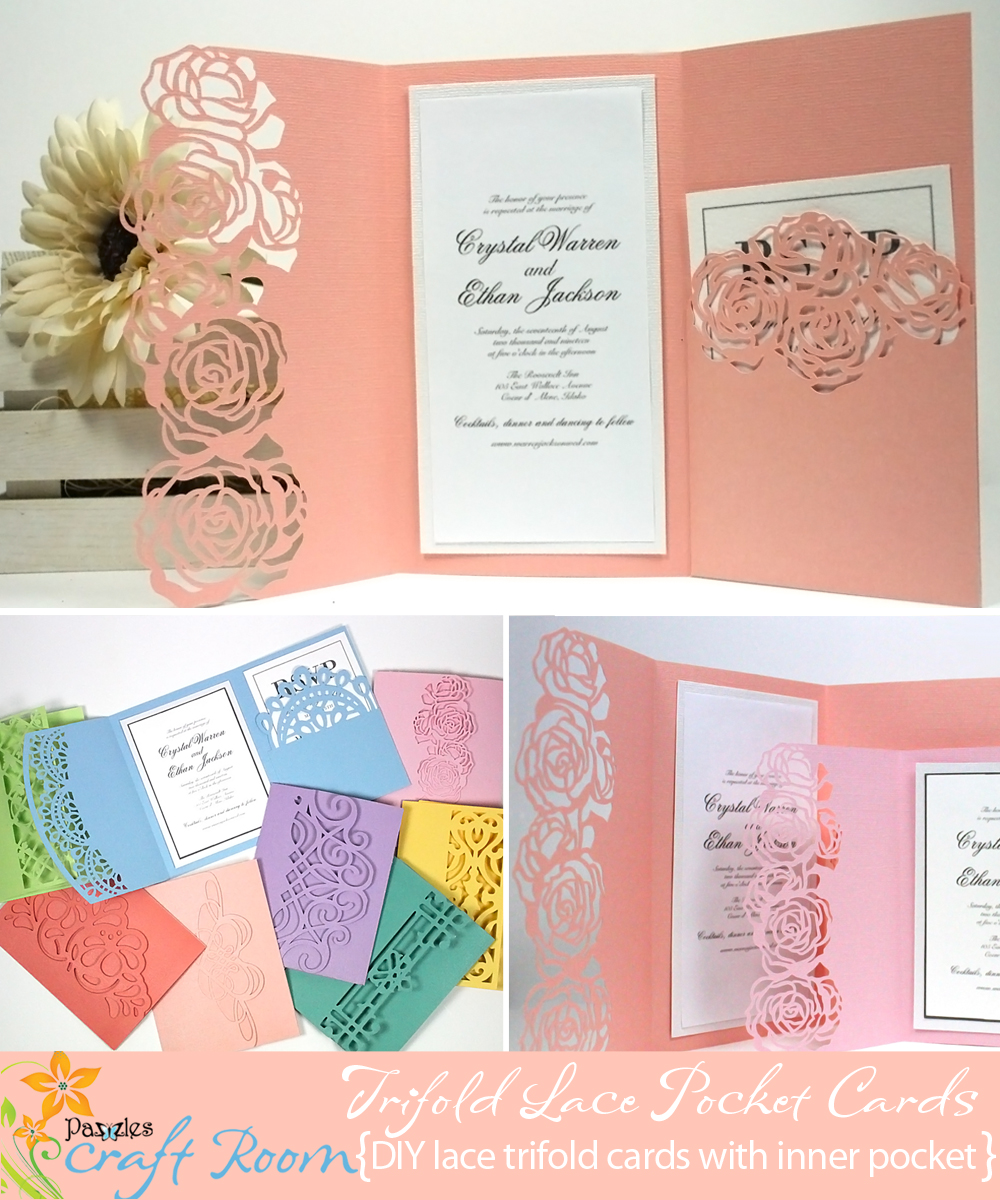 Trifold Lace Pocket Cards Collection Ai Svg Wpc Pazzles Craft Room