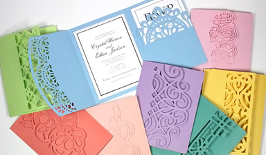 Trifold Lace Pocket Cards