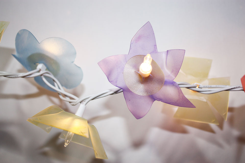 DIY Flower Lights with Stencil Material