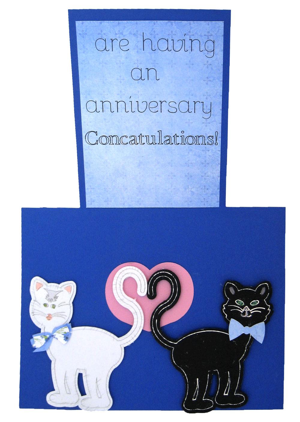 Cat Lover Anniversary Card