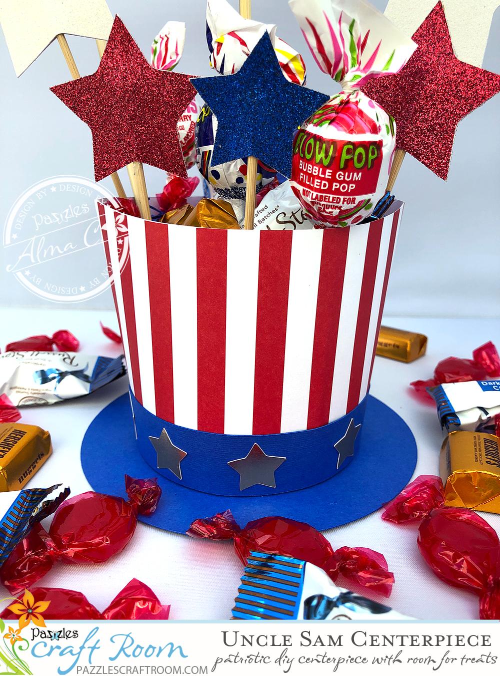 Uncle Sam Centerpiece Pazzles Craft Room