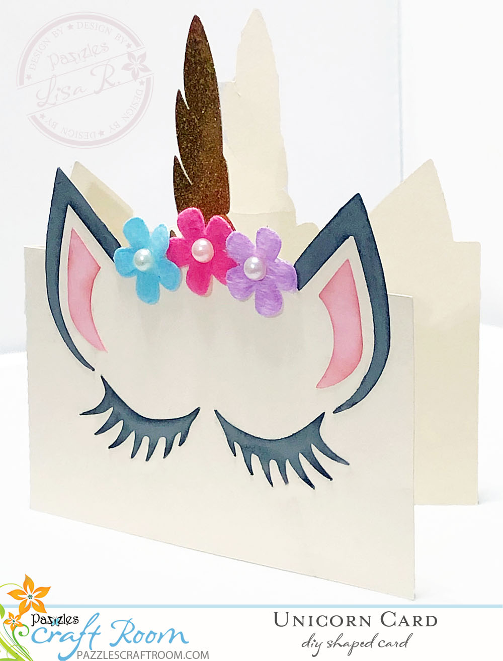 DIY Shaped Unicorn Card - Make for Your Party With Instant Download