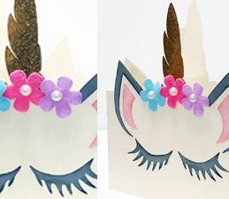 Pazzles DIY Unicorn Shaped Card by Lisa Reyna