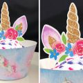 Pazzles DIY Unicorn Cupcake Topper and Wrapper by Lisa Reyna