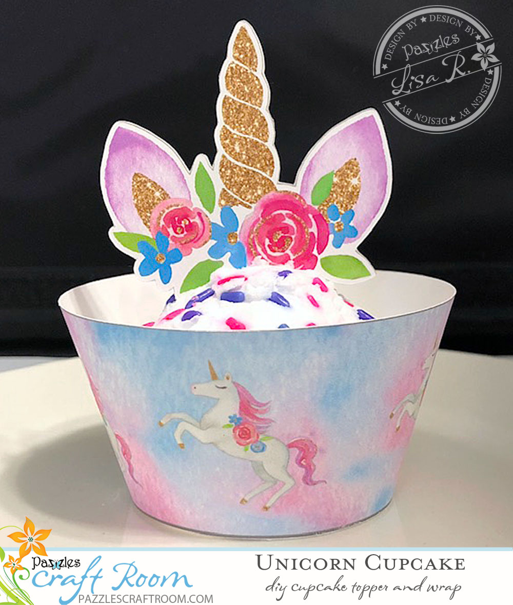 photo regarding Unicorn Cupcake Toppers Printable known as Unicorn Cupcake Wrapper and Topper - Very simple Do it yourself with Quick Down load