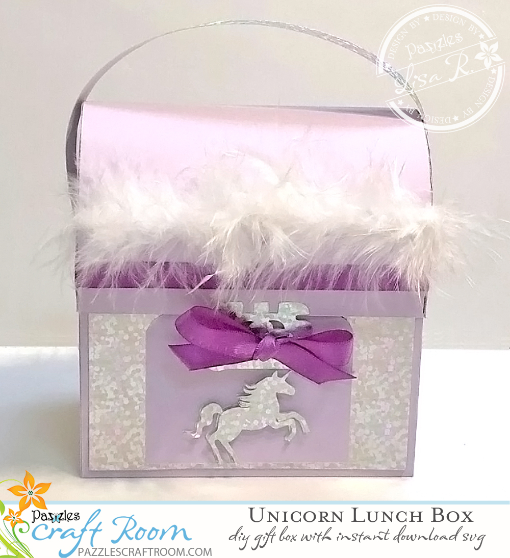 Pazzles DIY SVG Craft Unicorn Box by Lisa Reyna