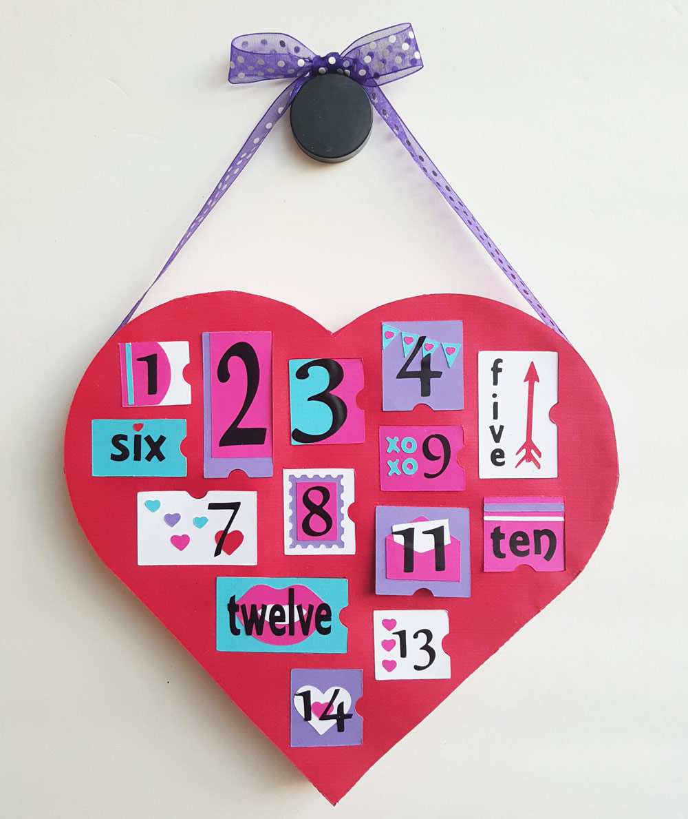Valentine Advent Calendar made entirely of paper.